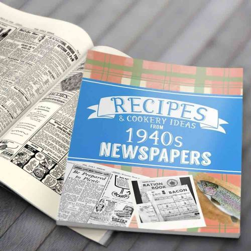 Personalised Recipes Newspaper Book